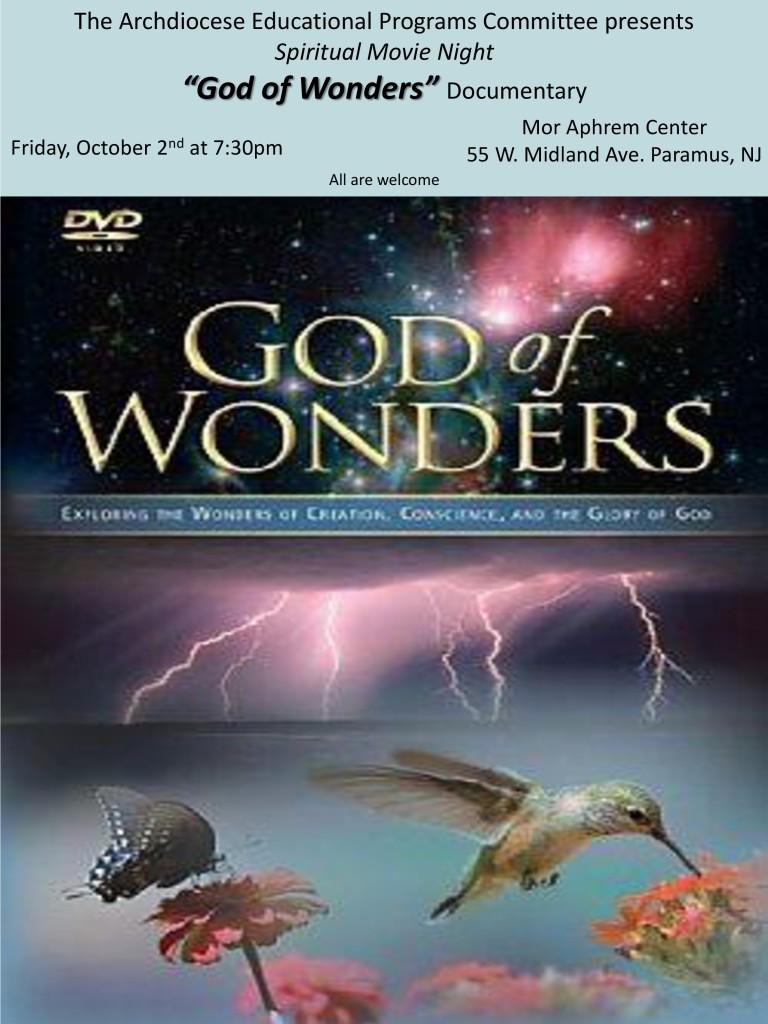 God of Wonders