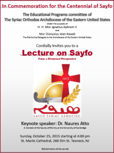 Sayfo Lecture