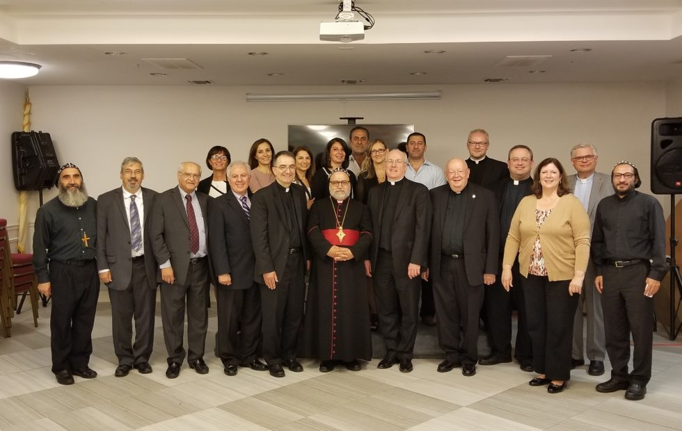 Hosting the Dean and Staff of the School of Theology of Seton Hall University at Mor Ephrem Center.