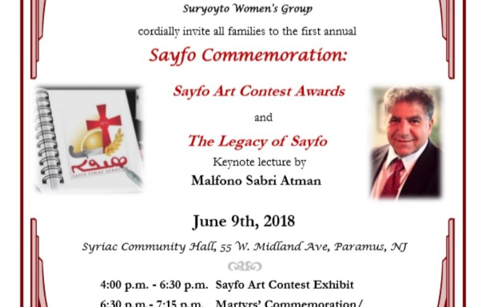 2018 Sayfo Commemoration