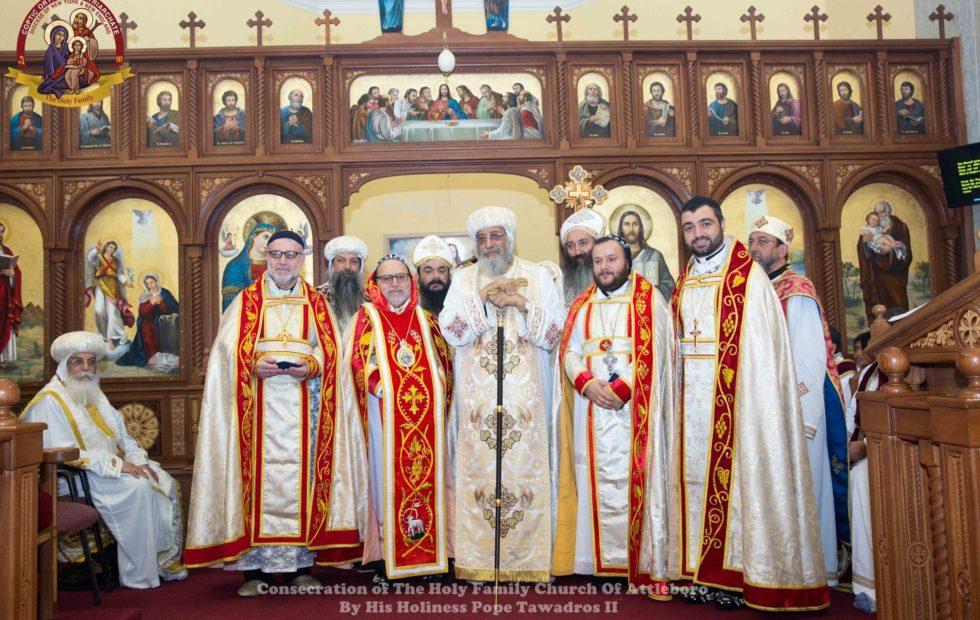 His Eminence Mor Dionysius John Kawak participates at the Consecration of a New Coptic Church in Attleboro, MA