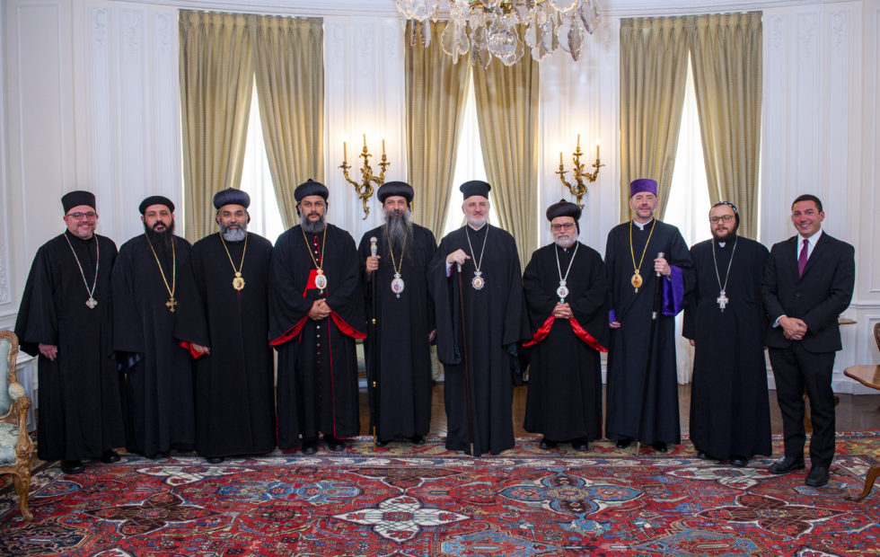 Brotherly Visit to the new Greek Orthodox Archbishop of America